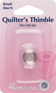 Hemline Quilters' Thimble - Size Small